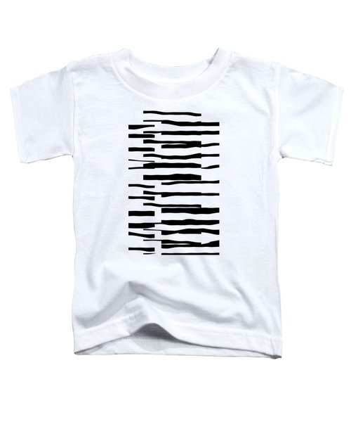 Organic No 13 Black And White Line Abstract Toddler T-Shirt