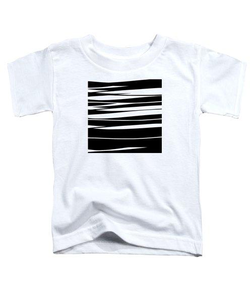 Organic No 9 Black And White Toddler T-Shirt