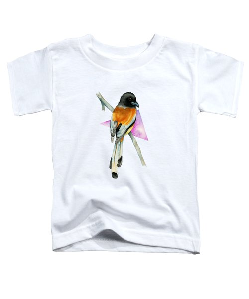 Oriole Bird With Triangle Watercolor Painting Toddler T-Shirt