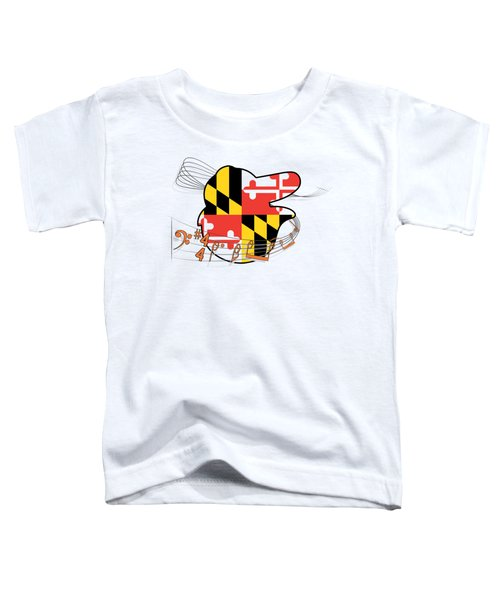 Oriole Sheet Music Design Toddler T-Shirt by Justin Canose
