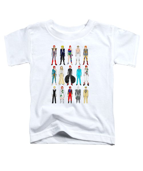 Outfits Of Bowie Toddler T-Shirt by Notsniw Art