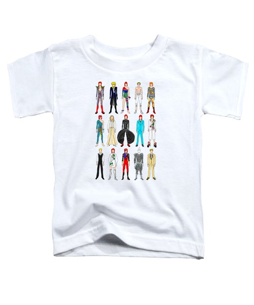 Outfits Of Bowie Toddler T-Shirt