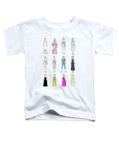 Outfits Of Marilyn Fashion Toddler T-Shirt by Notsniw Art