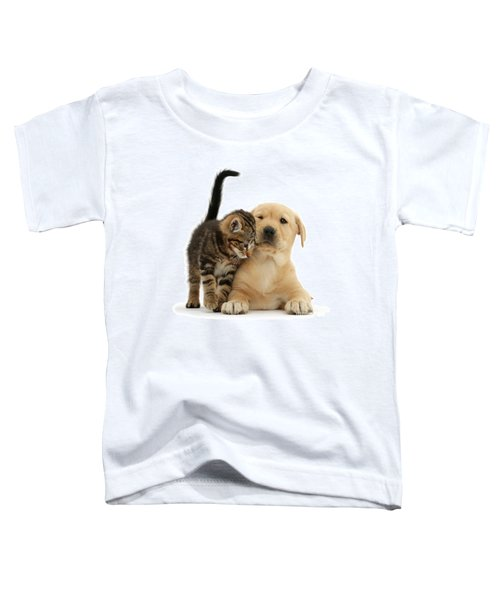 Over Friendly Kitten Toddler T-Shirt