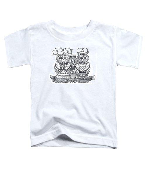 Owl Family Toddler T-Shirt