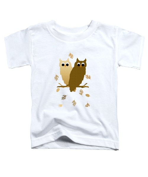 Owl Pattern Toddler T-Shirt