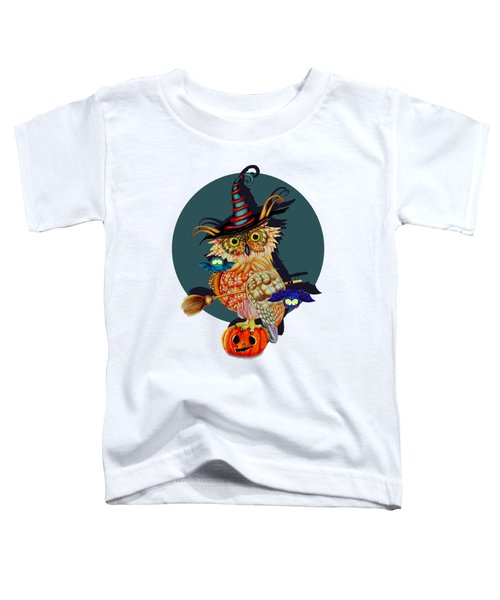 Owl Scary Toddler T-Shirt by Isabel Salvador