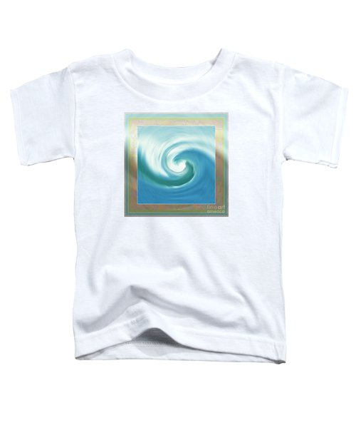 Pacific Swirl With Border Toddler T-Shirt