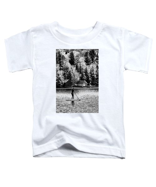 Paddleboarding On Old Forge Pond Toddler T-Shirt