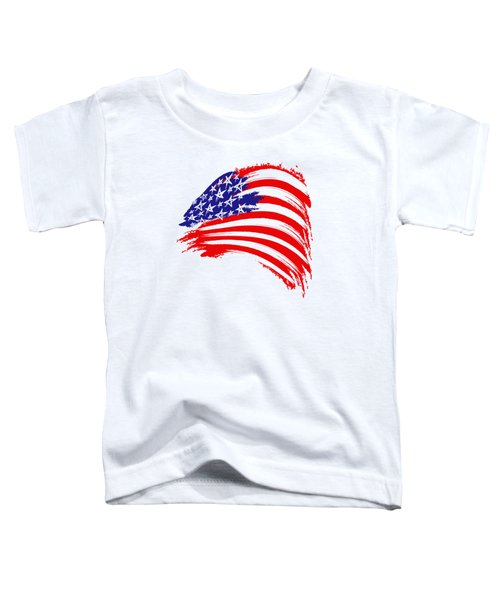 Painted American Flag Toddler T-Shirt