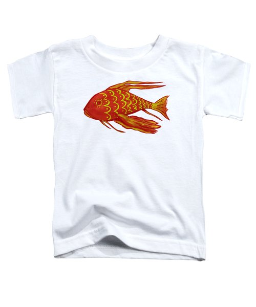 Painting Red Fish Toddler T-Shirt