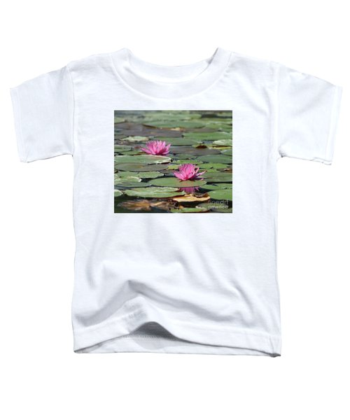 Pair Of Pink Pond Lilies Toddler T-Shirt