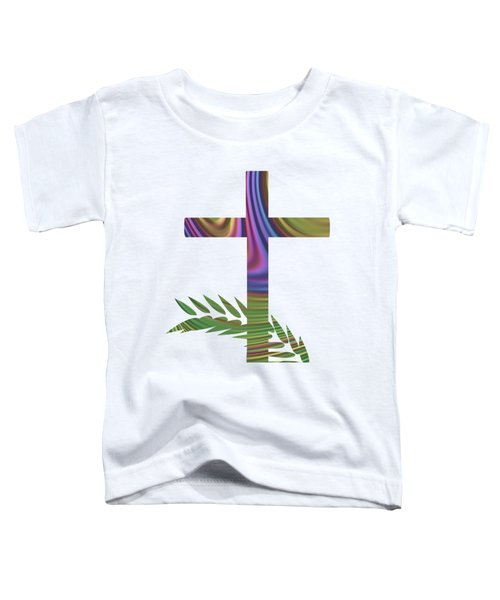 Palm Sunday Cross With Fractal Abstract Toddler T-Shirt