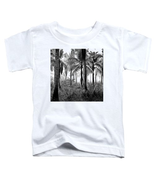 Palm Trees - Black And White Toddler T-Shirt