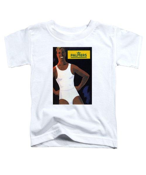 Palmers - Men's Vests And Briefs - Vintage Advertising Poster Toddler T-Shirt