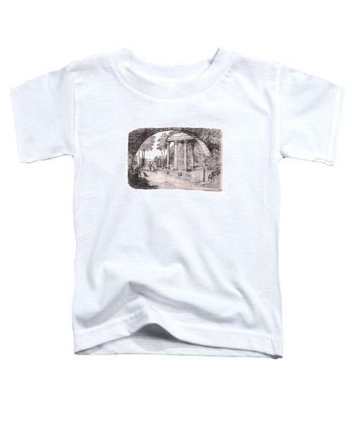 Pan Watching Ruins Of The Past Toddler T-Shirt