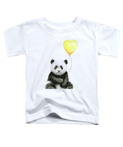 Panda Baby With Yellow Balloon Toddler T-Shirt