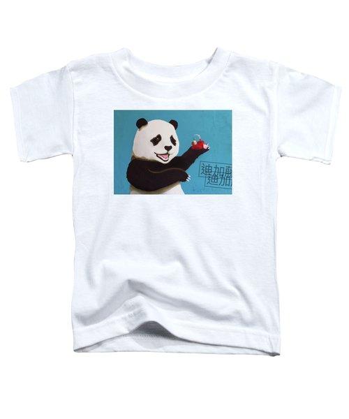 Panda Joy Blue Toddler T-Shirt