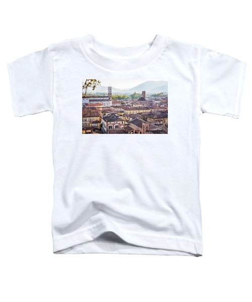 panorama of old town Lucca, Italy Toddler T-Shirt