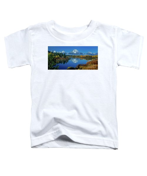 Panorama Oxbow Bend Grand Tetons National Park Wyoming Toddler T-Shirt