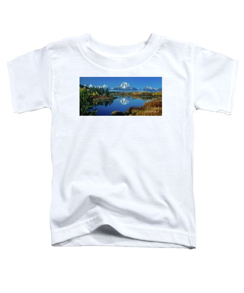 Panorama Oxbow Bend Grand Tetons National Park Wyoming Toddler T-Shirt