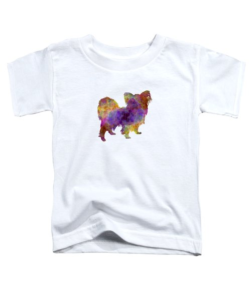 Papillon In Watercolor Toddler T-Shirt by Pablo Romero