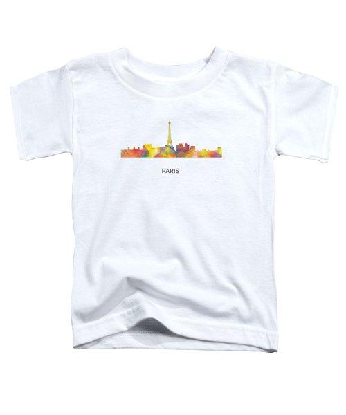 Paris France Skyline Toddler T-Shirt