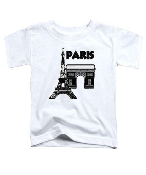 Paris Graphique Toddler T-Shirt by Pharris Art