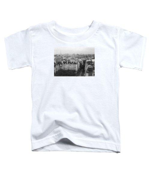 Paris In The Rain  Toddler T-Shirt by Dubi Roman