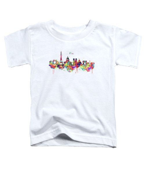 Paris Skyline 2 Toddler T-Shirt by Marian Voicu