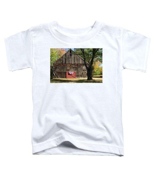 Patriotic Barn Toddler T-Shirt