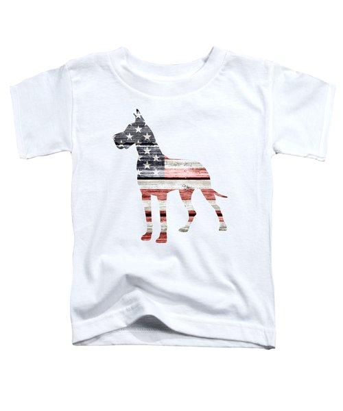 Patriotic Great Dane Toddler T-Shirt