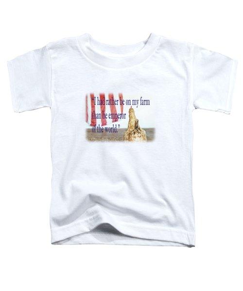 Patriotic Hen Toddler T-Shirt