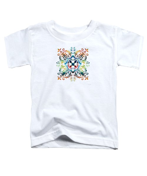 Pattern Art - Color Fusion Design 7 By Sharon Cummings Toddler T-Shirt