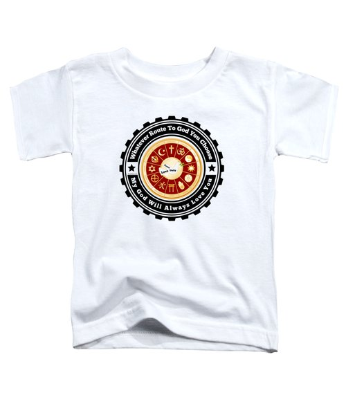 Peace Love Unity Toddler T-Shirt