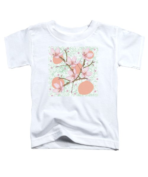 Peach Blossom Pattern Toddler T-Shirt