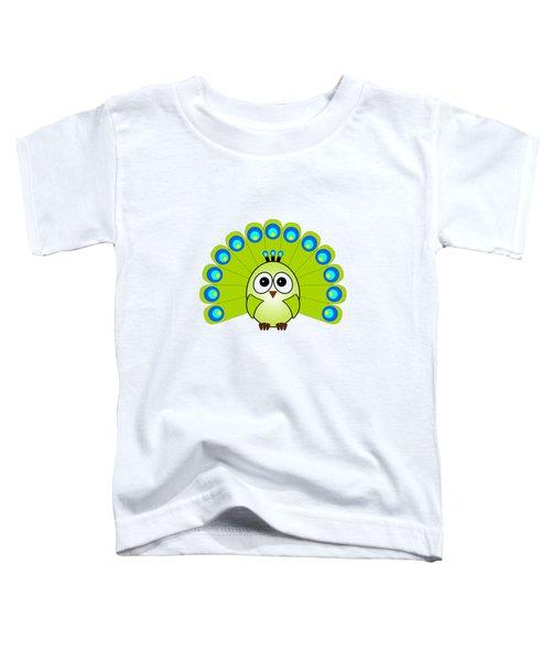 Peacock  - Birds - Art For Kids Toddler T-Shirt