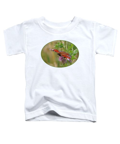 Peacock Butterfly On Thistle Toddler T-Shirt