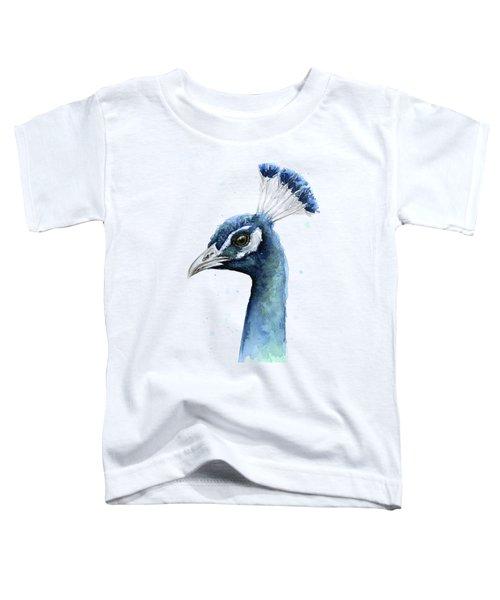 Peacock Watercolor Toddler T-Shirt