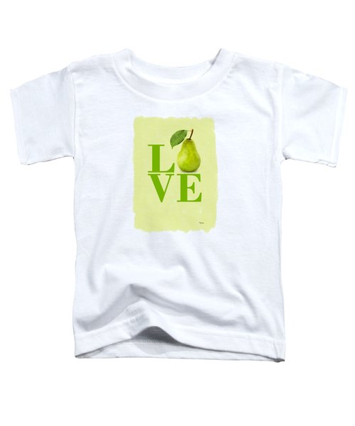 Pear Toddler T-Shirt by Mark Rogan
