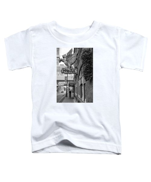 Pegasus In Detroit Black And White  Toddler T-Shirt