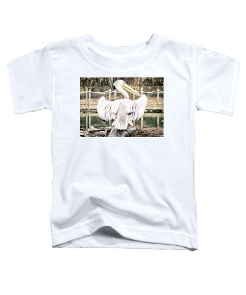Toddler T-Shirt featuring the photograph Pelican by Alison Frank