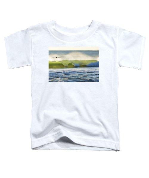 Pelican Flying Over Wind Wave Toddler T-Shirt