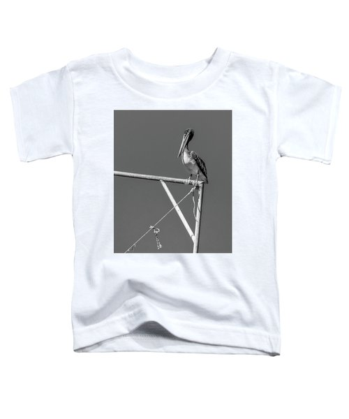 Pelican In Black And White Toddler T-Shirt