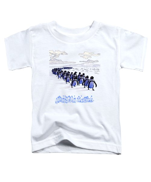 Penguin March Toddler T-Shirt by Methune Hively