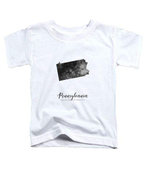 Pennsylvania State Map Art - Grunge Silhouette Toddler T-Shirt