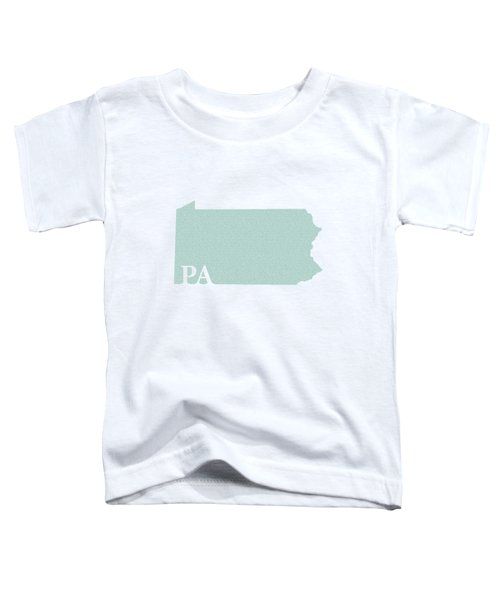 Pennsylvania State Map With Text Of Constitution Toddler T-Shirt