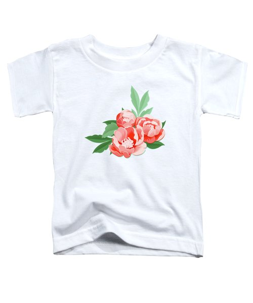 Peonies And Mint Toddler T-Shirt