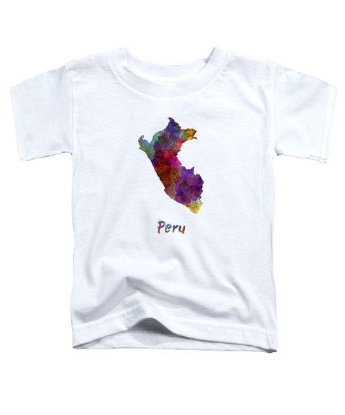Peru In Watercolor Toddler T-Shirt