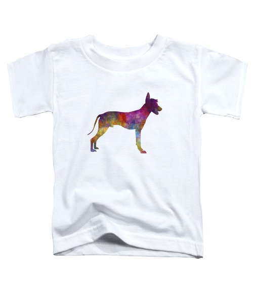 Peruvian Hairless Dog In Watercolor Toddler T-Shirt by Pablo Romero